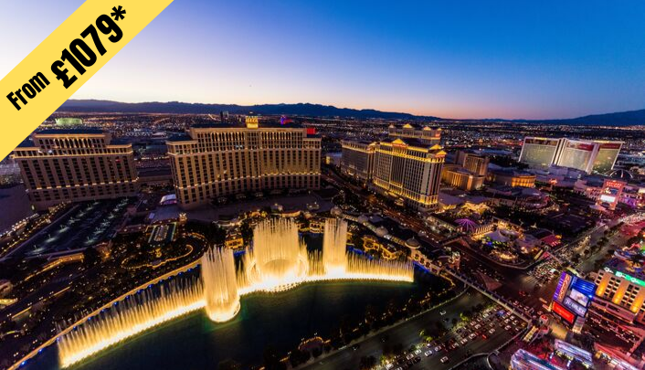 5 NIGHTS STAY IN LAS VEGAS from £1079 per person ( 2 twin share )