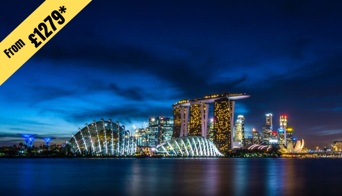 7 NIGHTS STAY IN SINGAPORE from £1279 per person ( 2 twin share )