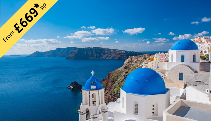7 Nights Stay in Santorini from £669 per person ( 2twin share )